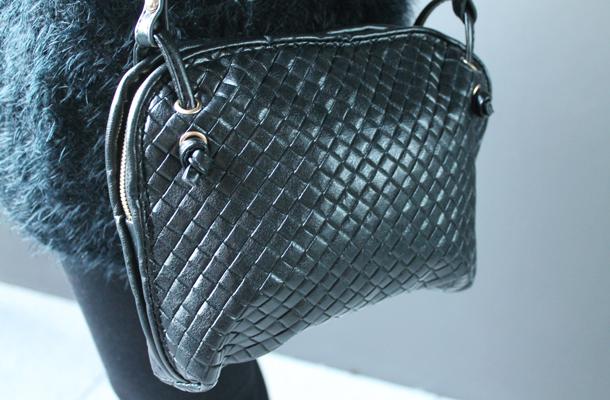 Banggood black woven handbag