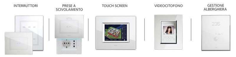 Ave touch interruttori touch con placche in alluminio for Interruttori touch