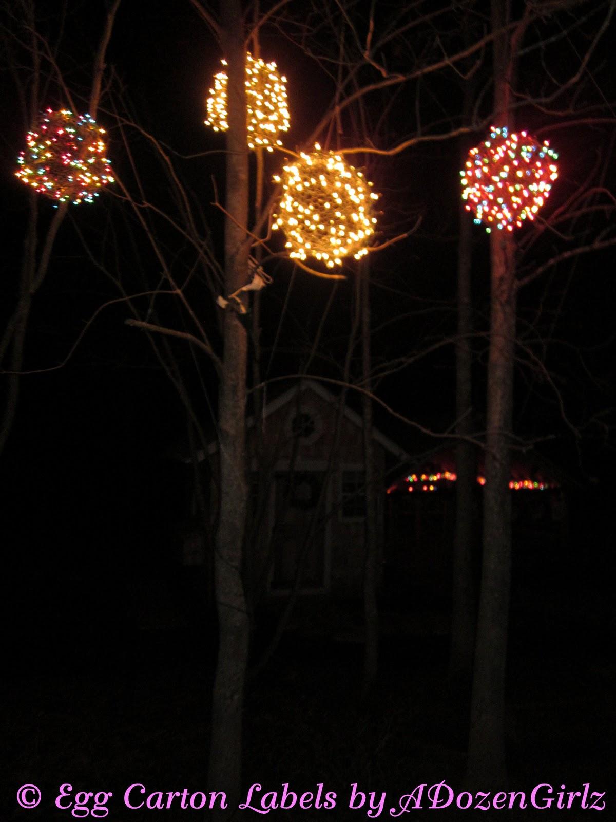 christmas balls lights outdoor