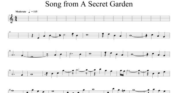 Secret Garden The Promise Free Piano Sheet Music Secret Garden The Promise Free Piano Sheet