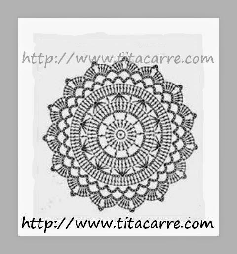 Mandala Turca Colorida em crochet