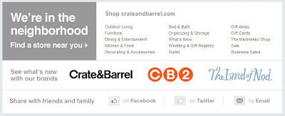 Feb. 20, 2012 Crate & Barrel email