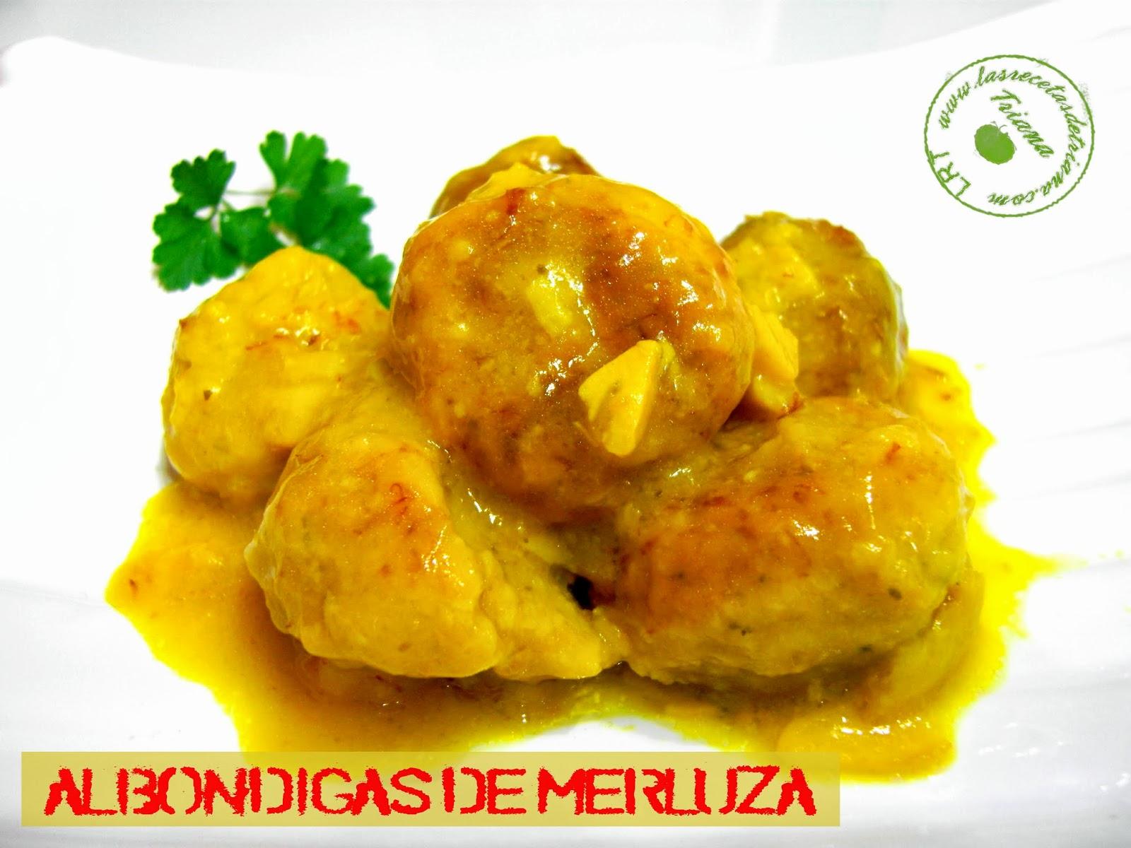 Las recetas de triana alb ndigas de merluza en salsa de - Guarnicion para albondigas ...