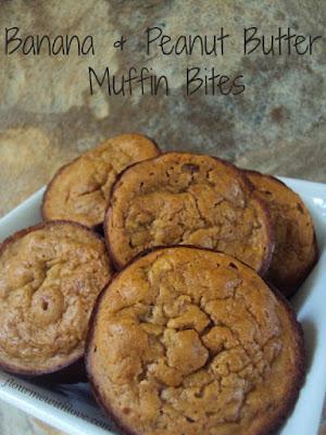 Banana Peanut Butter Muffin Bites; flourmewithlove.com