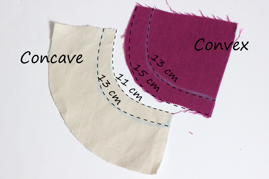 How to sew curved seams tutorial