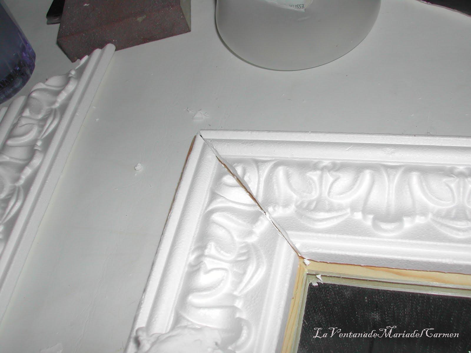 Manualidades la ventana de maria del carmen decoraci n for Molduras para espejos online