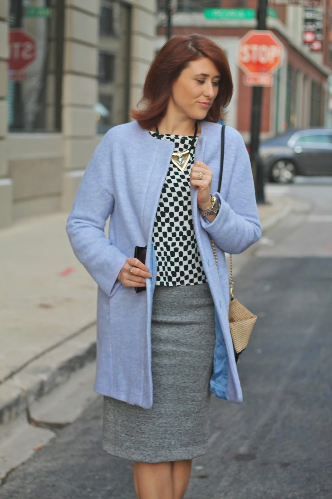 blue, wool, zara, jacket