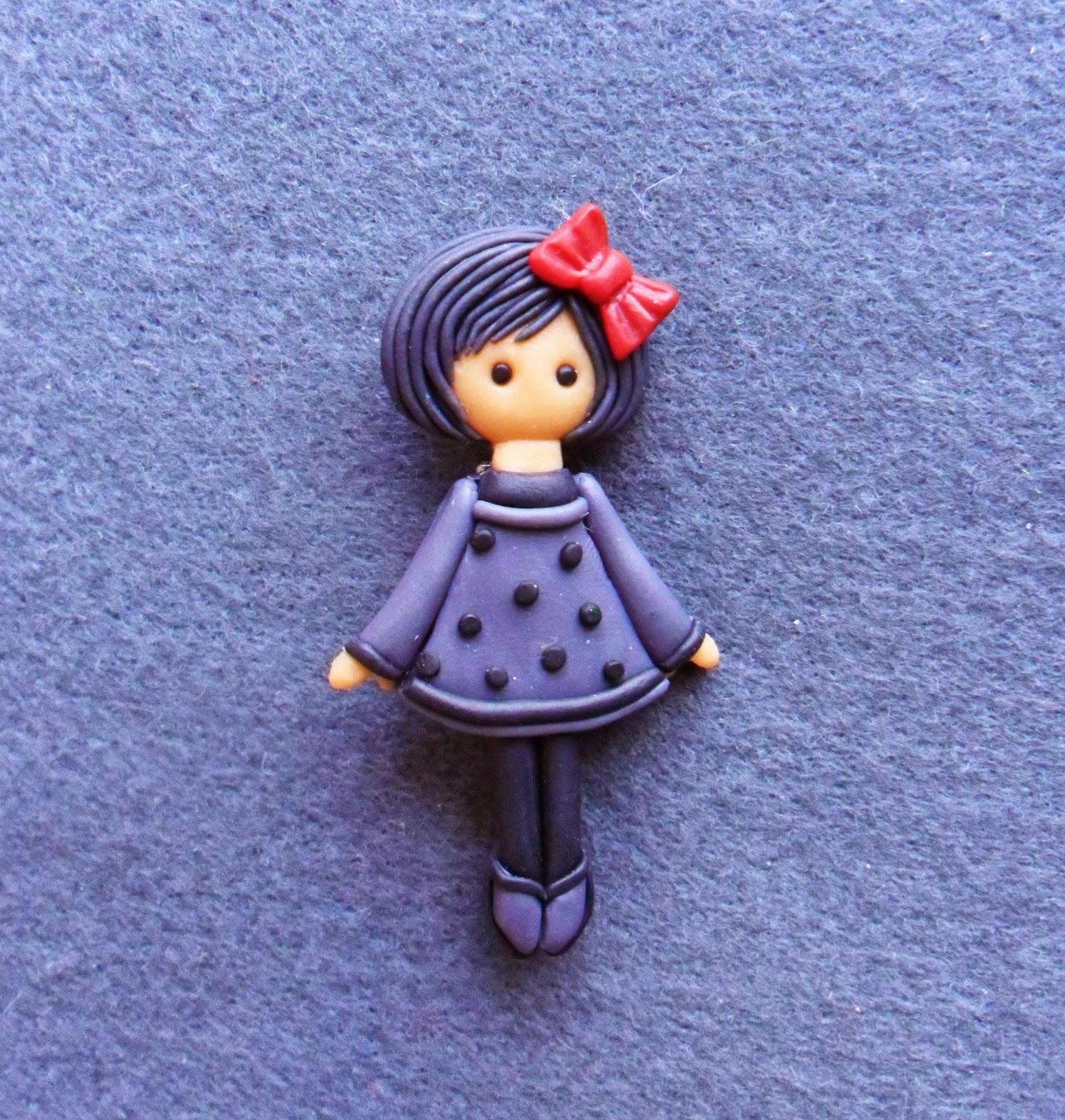 292Как сделать из полимерной глины куколку
