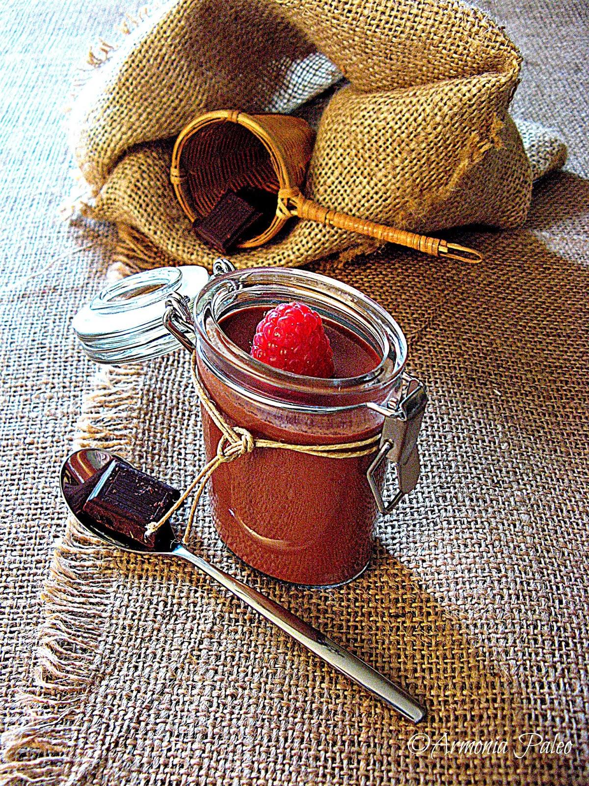 Vasetti di Cioccolato ai Lamponi di Armonia Paleo