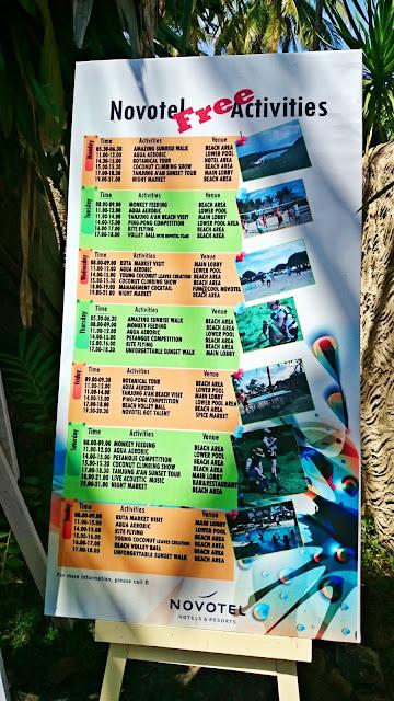 Novotel Lombok - Free Activities | www.meheartseoul.blogspot.com