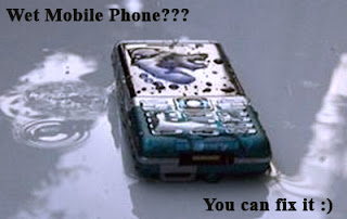 Solution for wet Mobile Phone