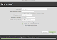 Create user identification name and password