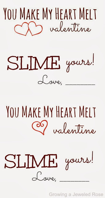 Slime valentines- so FUN!  (Free printables)