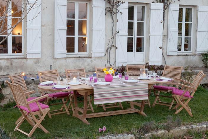 salon de jardin 6 chaises 2 fauteuils