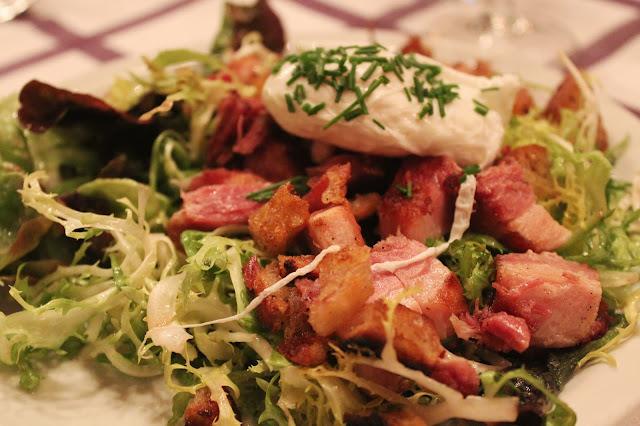 Frisee salad at Auberge Pyrénées Cévennes