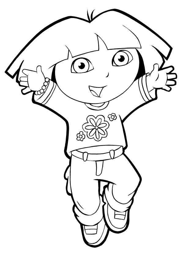 Lively image inside dora coloring pages printable
