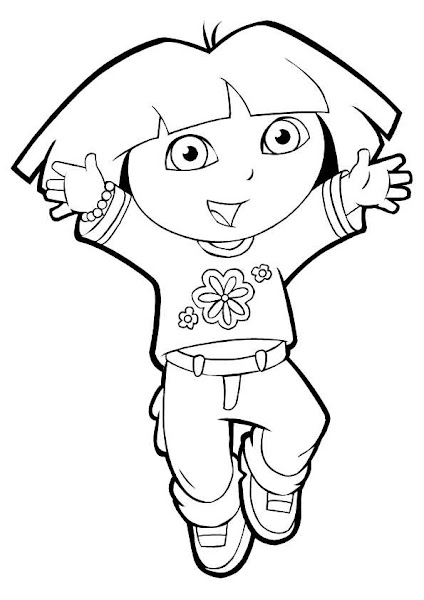 Dora Coloring Pages To Print For Kids