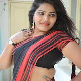 Sitara Hot Photos in Saree at Gundello Guchi Guchi Champake Movie Press Meet 100