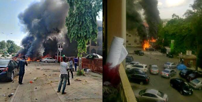 Photos and Video Scene From This Eveninigs bombing at Emab Plaza, Wuse 2