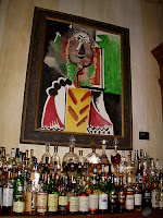 Picture of an authentic Picasso painting at Picasso's Restaurant