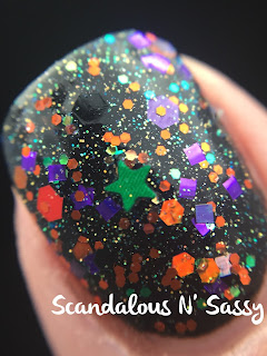 Darling Diva Polish I Have Such Sights to Show You over black undies macro