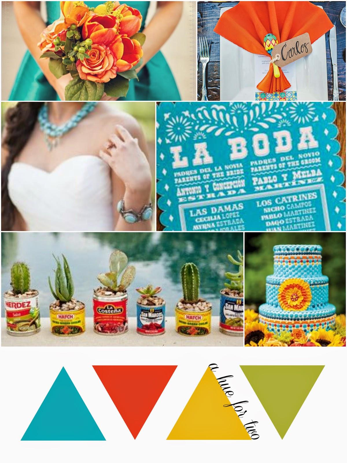 Cinco De Mayo Themed Wedding - Turquoise, Orange and Yellow Colour ...