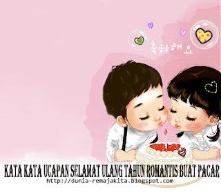 Kata Kata Ucapan Selamat Ulang Tahun (Ultah) Romantis Buat Pacar