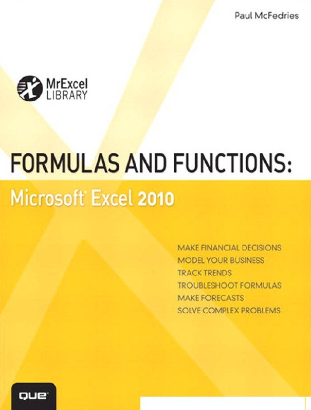 Formulas and Functions: Microsoft Excel 2010 - 1001 Tutorial & Free Download - EBooks