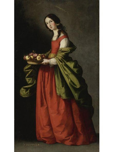 Francisco De Zurbaran Saint Dorothy