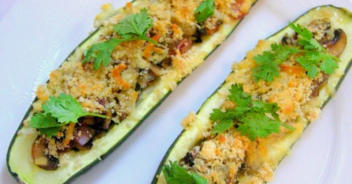 Peng's Kitchen: Stuffed Zucchini with Ham & Mushrooms