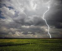 Photo of lightening in forbidding sky