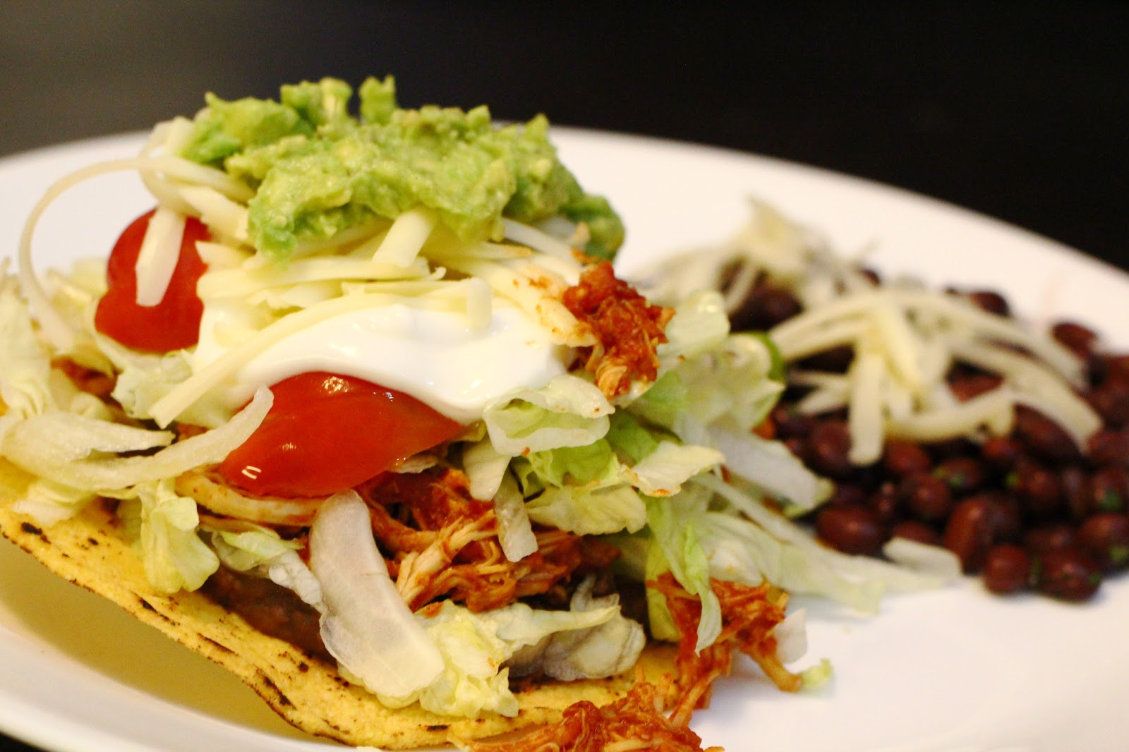 Slow Cooker Chicken Tostadas - Marie's Cooking Adventures