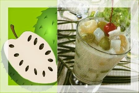 Resep dan Cara Membuat Es Buah - Sirsak