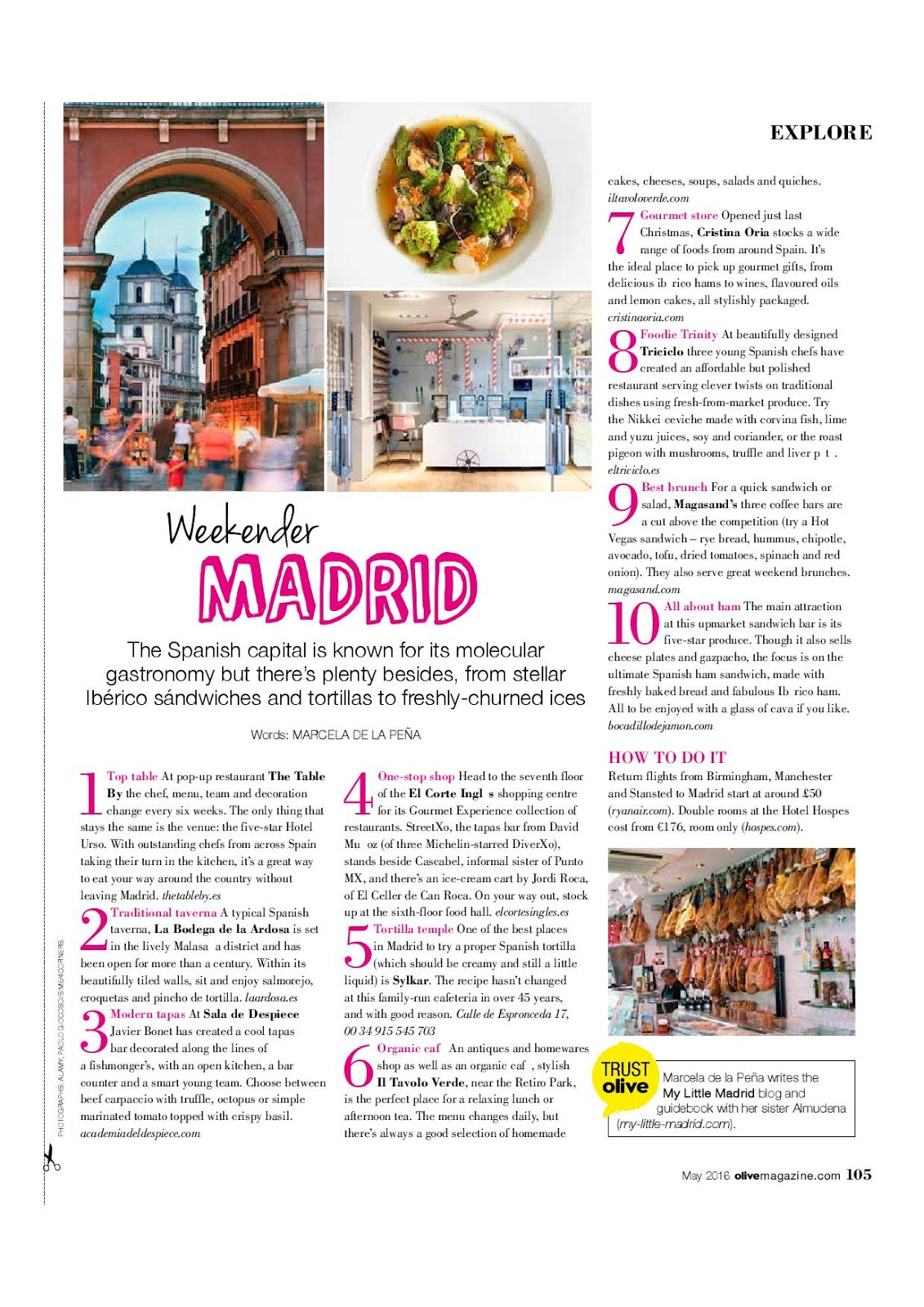 My Little Madrid on Olive Magazine