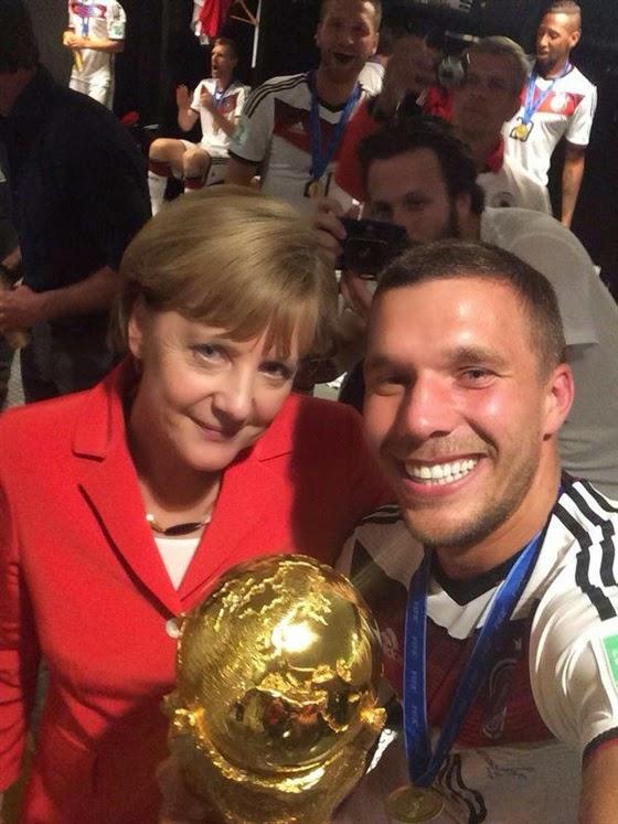كأس العالم سيلفي لاعب المانيا بودولسكي 2014