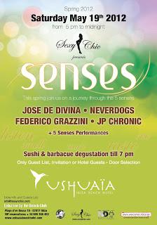 Senses, la nueva fiesta de Sexy n Chic, todos los sábados en Ushuaïa Ibiza Beach Hotel