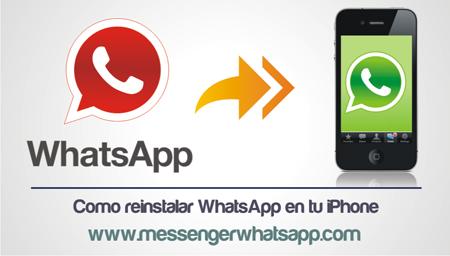 Como reinstalar WhatsApp en tu iPhone