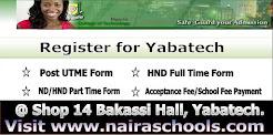 Yabatech Online Registration