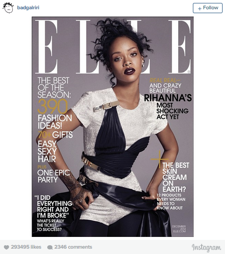 Rihanna Is 'Boldly Stripped Down' For December 'Elle'