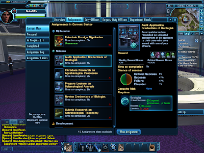 Star Trek Online - Assignments Tab