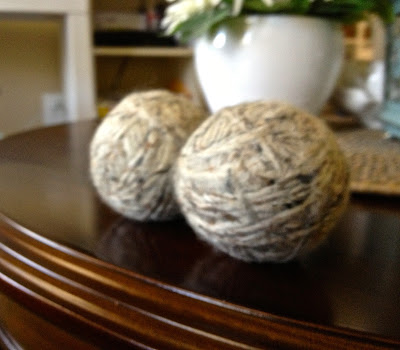 Wool Dryer Balls DIY