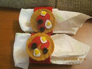 portatovaglioli fai da te - DIY войлочные салфетки - DIY Felt napkin - DIY Felt Serviette - Pizza und Bier