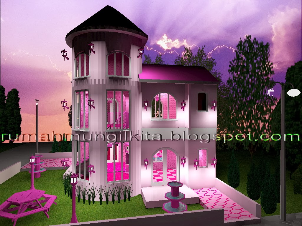 Real Barbie Dream House Castle, Left Side