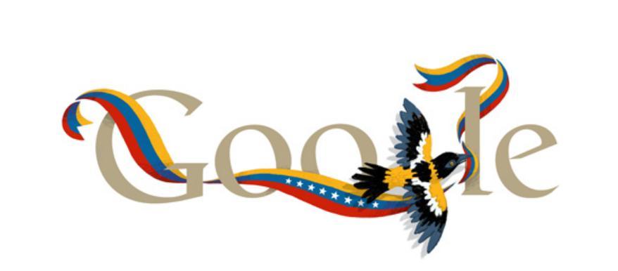 Gremio docente doodle de google y la independencia de for Googlebanco de venezuela