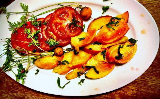 Tomatoes with Vanilla and Mint