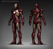 Final design detailing was painted over turnarounds of the Mk 4 suit, .