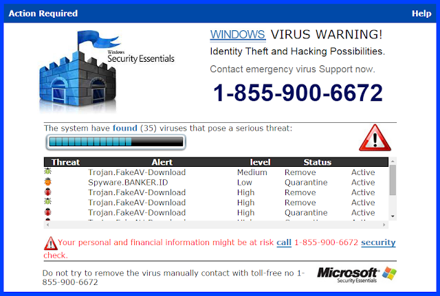 Warningscan.com pop-ups (Falso soporte)
