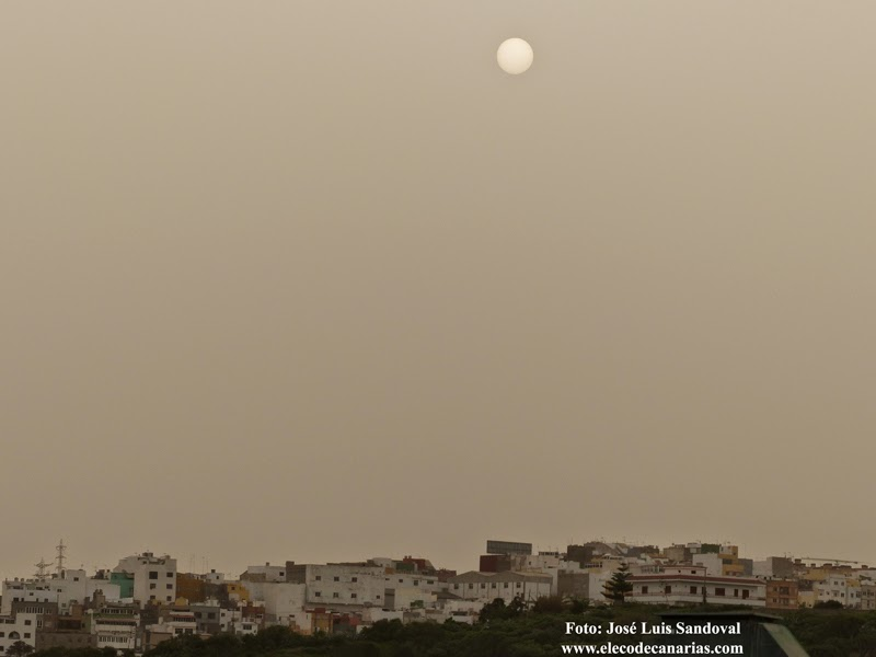La calima sigue en Gran Canaria 12 enero