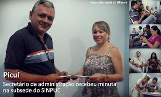 Sinpuc entrega minuta de produtos do PCCRS em Nova Palmeira e Picuí