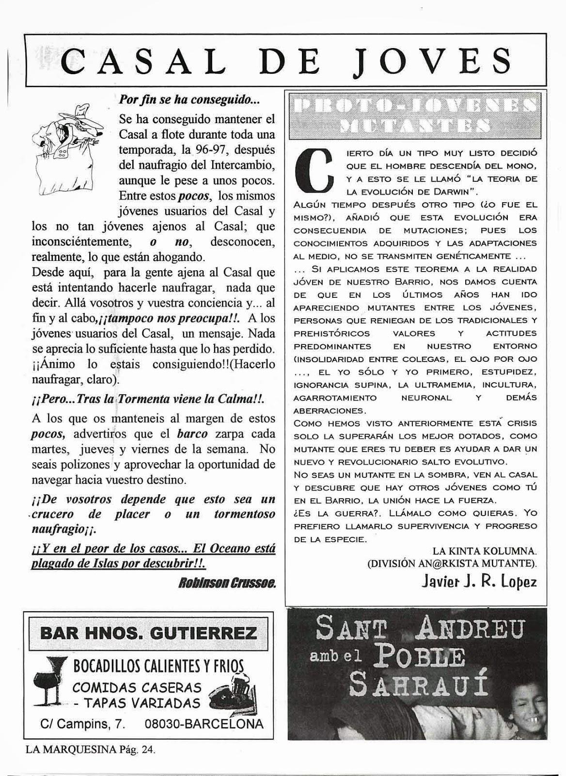 CASAL DE JOVES BARÓ DE VIVER